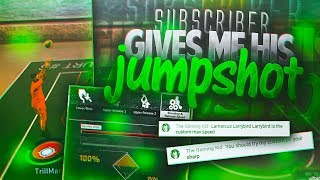 SUBSCRIBER GAVE ME HIS CUSTOM JUMSPHOT IN NBA 2K17 • BEST JUMPSHOT IN NBA 2K17?