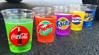 Experiment !! Stretch Armstrong VS Coca Cola, Monster, Fanta, Sprite, Pepsi and Mentos in Toilet