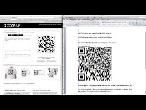 Wie man QR Codes in Arbeitsblättern nutzen kann.