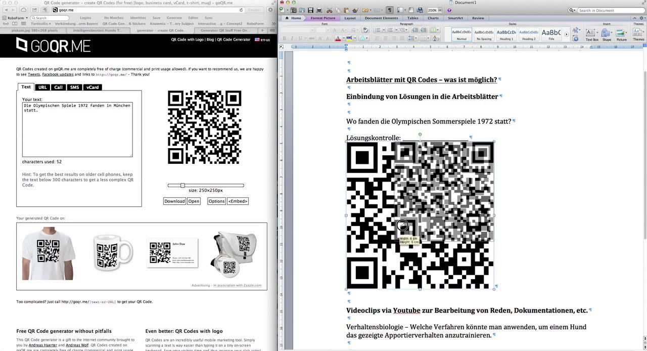 Wie man QR Codes in Arbeitsblättern nutzen kann. - YouTube
