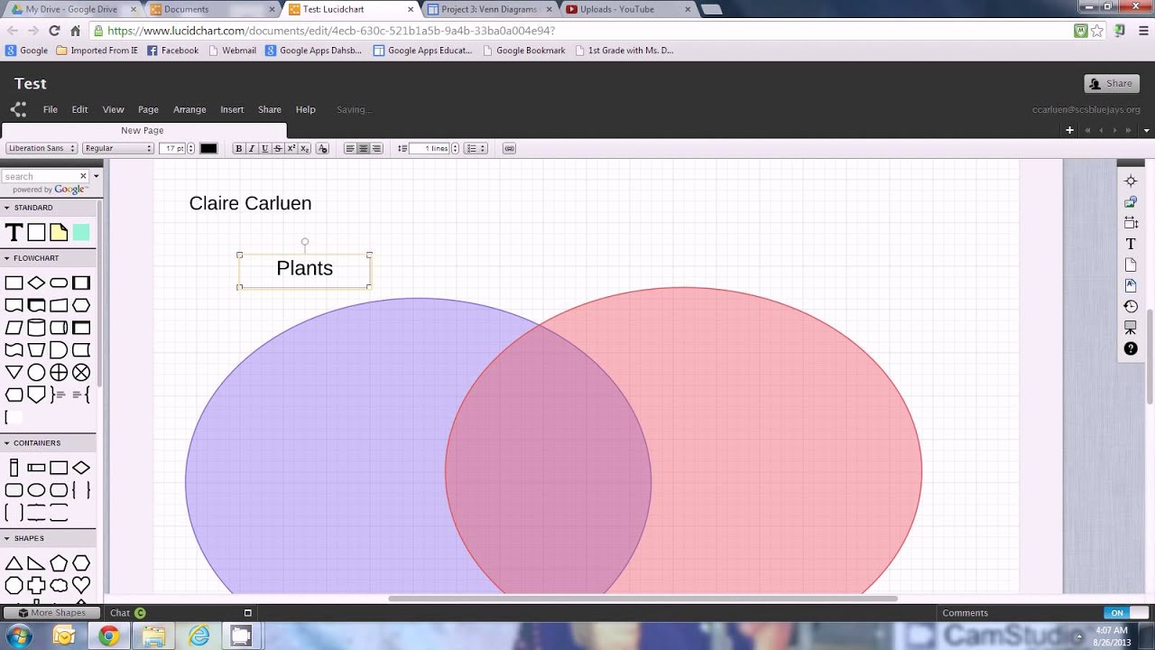Lucidchart Venn Diagram Maker Circuit Symbols For Diagramming Teachers In Also Youtube Rh