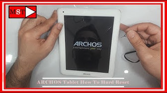ARCHOS Tablet How To Do Hard Reset