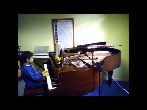 Piano Student  Girls Flower Dance  A to G Music School Sutton Teacher Lessons