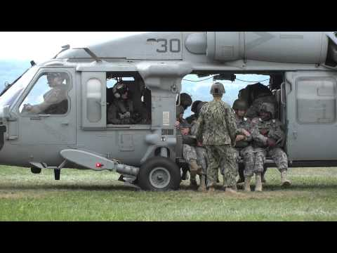 Seahawk Takeoff -- Airborne Operations 22 AUG 2012 ( SH-60 Seahawk) Video 4 of 4