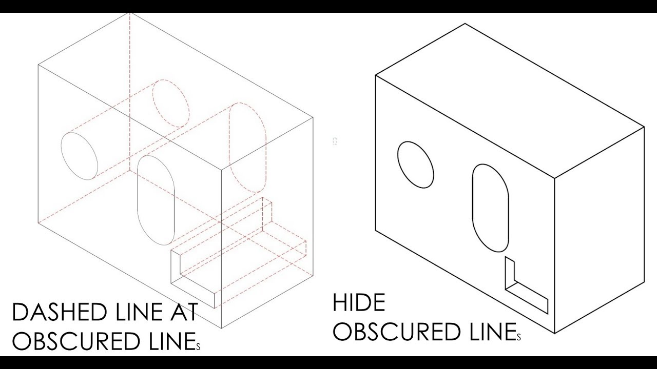 How To Convert A 3d Model Into A 2d Drawing With Hidden Line Or Hide