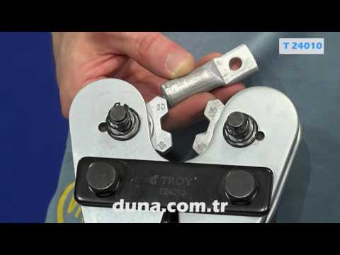 Механични клещи за кербоване 650мм / TROY 24010 / video