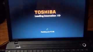 Toshiba  Satellite Factory Reload Restore to factory Out of box State C55-A104