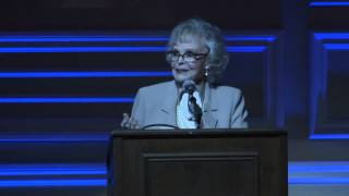 June Lockhart Presents Margaret O'brien With The Shirley Temple Award
