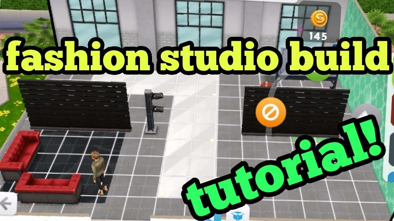 The Sims Mobile Fashion Studio Budget Build Tutorial Part 1 Teardown And Furniture Layout Youtube