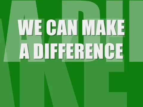 We Can Make A Difference  Lyric video