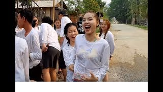 """Tết Lào 2019 """"Bunpimay"""" Bỏng mắt với những điệu nhảy của Hotgirl"""