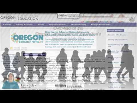 Overview of the Oregon Department of Education Internet Web Site