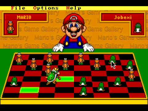 mario s game gallery 1995 checkers youtube