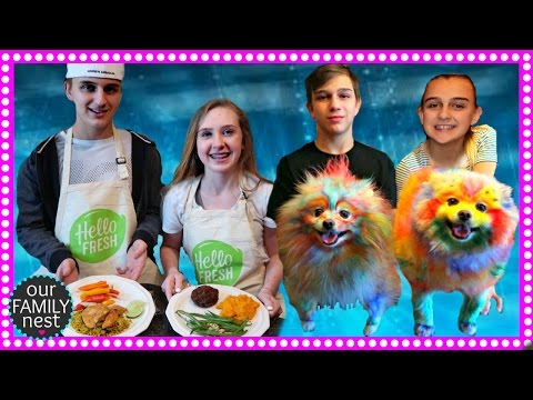 DOG COLORING CONTEST & KIDS COOK DINNER!