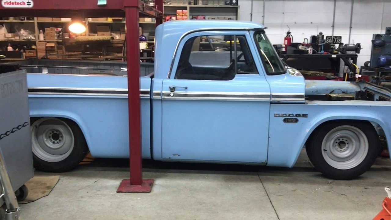 d100 mustang ii installation, video 1 ride height 1972 dodge truck swept away – 1968 dodge d100 sweptline