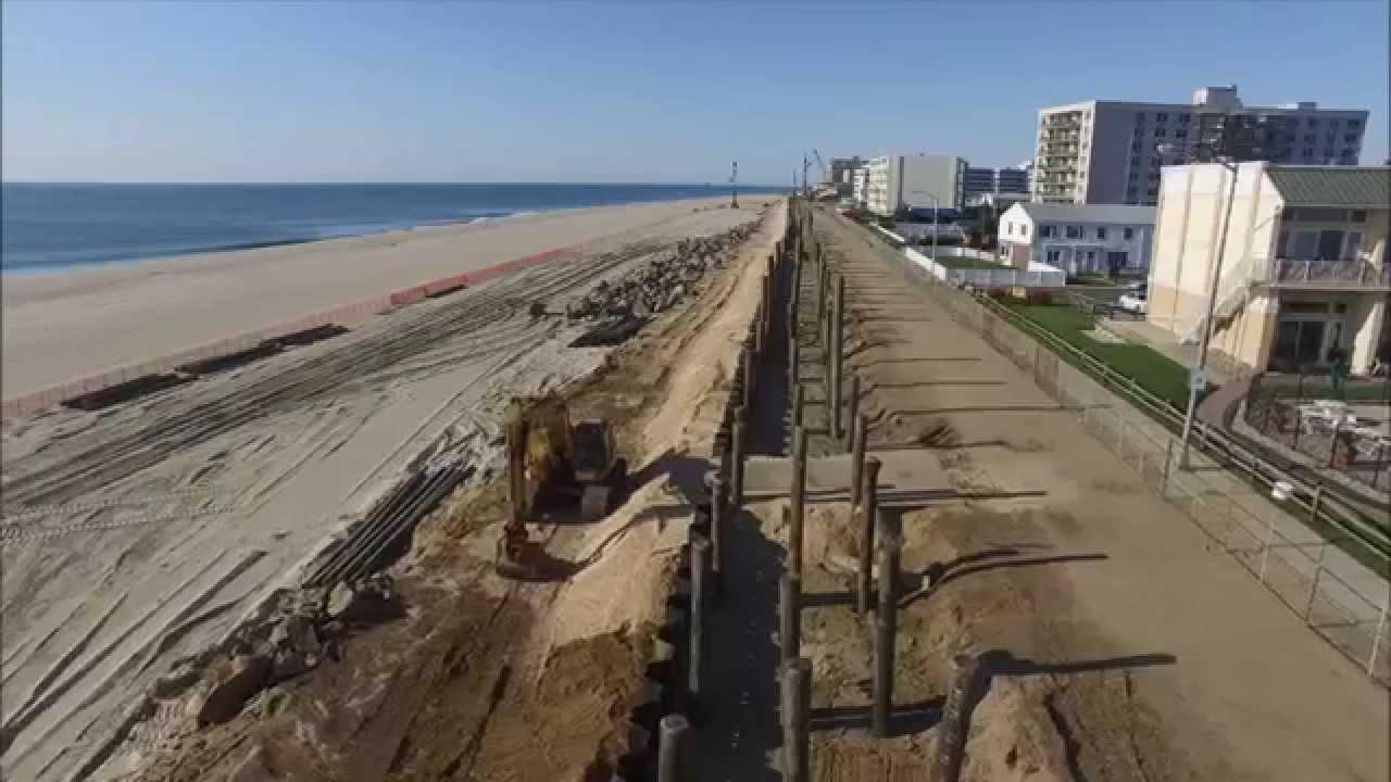 Long Branch NJ Boardwalk Reconstruction 8.2.15 - YouTube