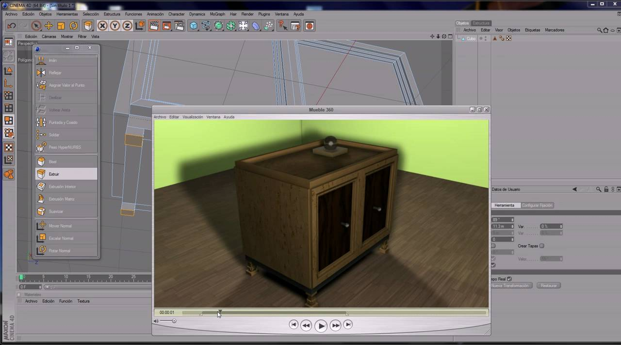 Tutorial Cinema 4D Impresionante mueble 3D (de 0 a 100) - YouTube