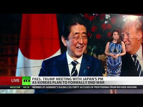 Trump and Abe meet amid Korea talks to end war