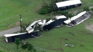 Texas Tornado Video: Tractor-Trailers Tossed Like Toys, Roofs Ripped Off Homes