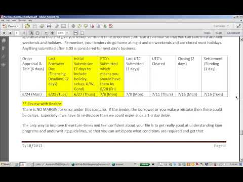 Purchase Contract Analysis