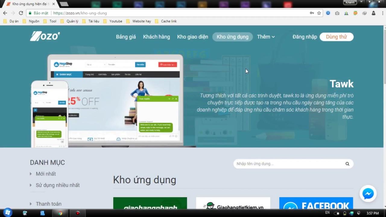 Zozo - Hướng dẫn cài đặt Facebook Live Chat lên website Zozo - YouTube
