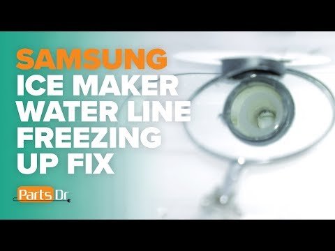 How to check your ice maker water line in a Samsung refrigerator