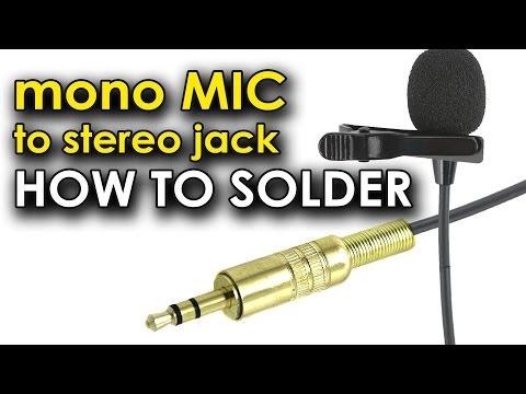 Как припаять штекер к микрофону