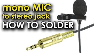 how to soldering mono mic to stereo jack? паять моно микрофон к разъему стерео мини джек