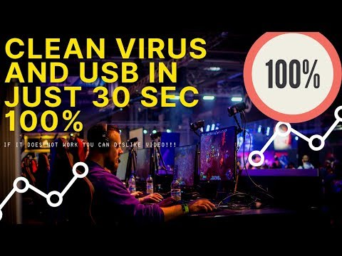 How to fix and clean Virus from USB+P.C in just 30 sec 100% work