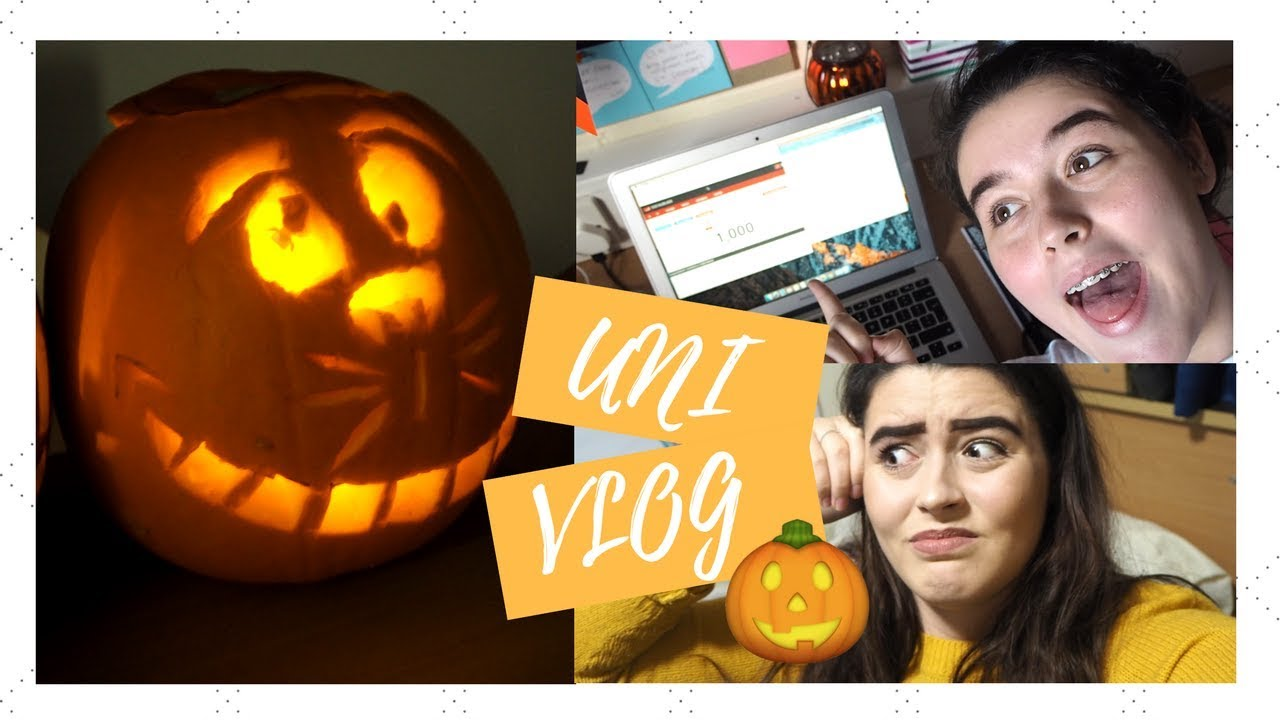 UNI VLOG | Hitting 1,000 Subscribers, Pumpkin Carving & Mini RANT!