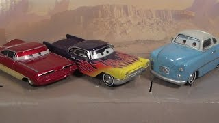 HOMETOWN RADIATOR SPRINGS 3-PACK, JONAS REVERA NEW 2017 CARS MATTEL DISNEY PIXAR DIECAST REVIEW