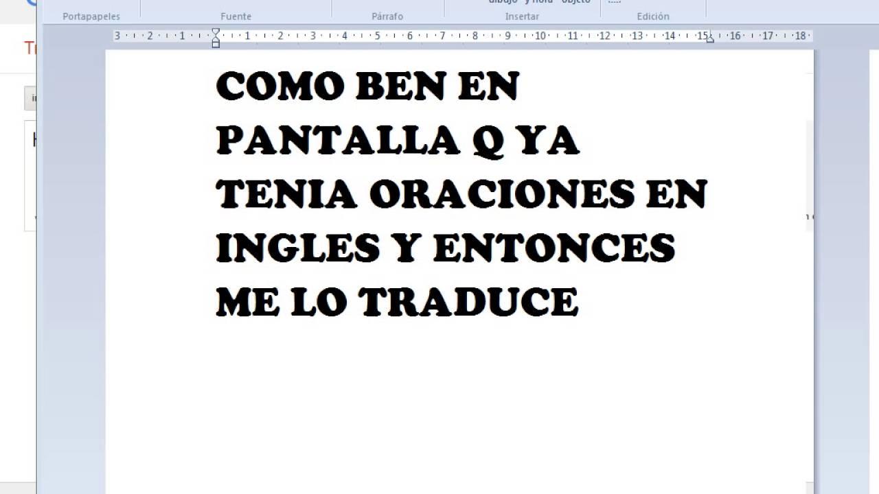 Adesivo Impressão Digital Parede ~ COMO TRADUCIR ORACIONES EN INGLES Y EN ESPA u00d1OL TOTAL GRATIS  XD  YouTube