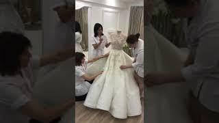 От кутюр создание платья GRACH HAUTE COUTURE Грач Устян свадебное платье