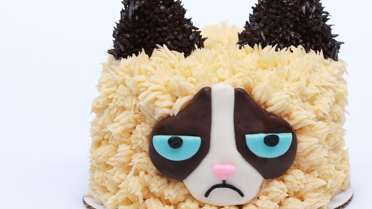 GRUMPY CAT CAKE NERDY NUMMIES YouTube