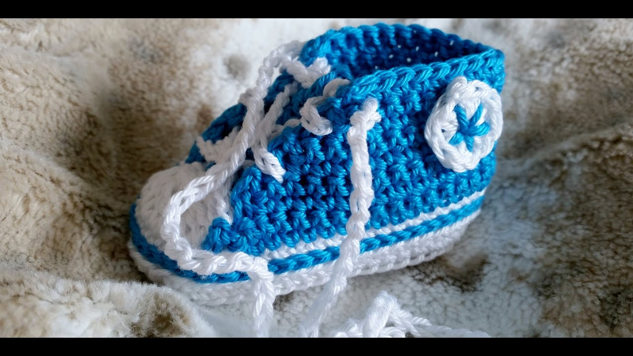 zapatillas tipo converse a crochet