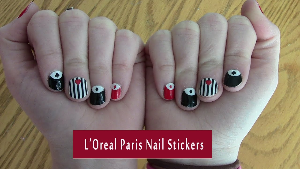 L\'Oreal Paris $1 Nail Stickers Attempt! - YouTube