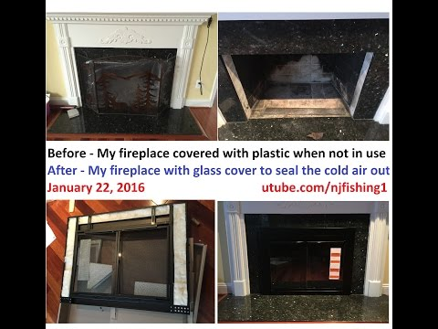 How to install a fireplace glass door? Pleasant Hearth - alpine model AN-1012