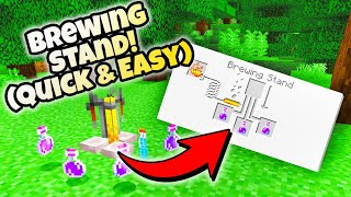 How to Make a Brewing Stand and Potions 1.16 (SUPER QUICK MINECRAFT TUTORIALS)