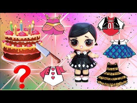 Зачем испортила торт для куклы ЛОЛ? Новые наряды в корзинке БРАТИК леди Аниме МУЛЬТИК ЛОЛ СЮРПРИЗ