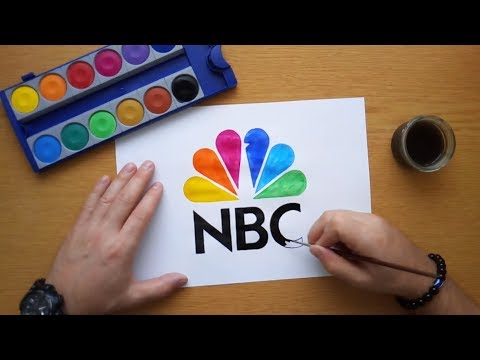 How to draw the NBC logo