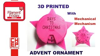 3D Printed Christmas Advent Ornament Printed on New Matter MOD-t Printer
