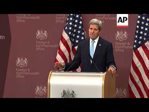 Hague and Kerry on Syria and Ukraine at Friends of Syria meeting