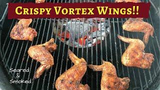 Crispy Grilled Hot Honey Chicken Wings - Weber Kettle - Vortex