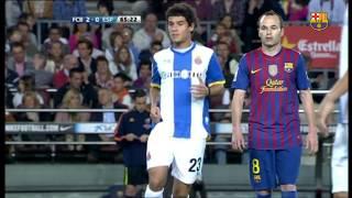 Coutinho plays at Camp Nou (2011/12)