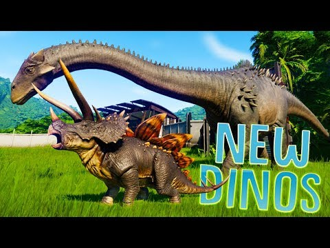 5 New DEADLY Dinosaurs In Jurassic World - The Kings of The Herbivores - Jurassic World Evolution
