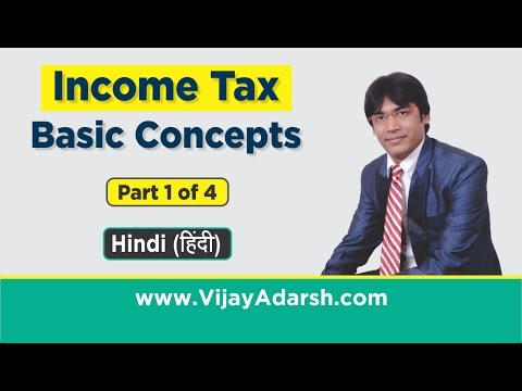 Income Tax – Basic Concepts  Part 1 of 4 by Vijay Adarsh| Stay Learning | (HINDI)