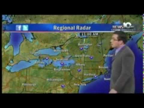 WTEN/News 10 ABC (Albany NY): Weather w/Brian Bachman, 1/8/2012 6:15pm