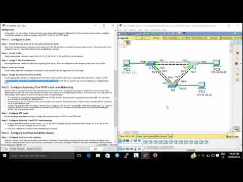 Configuring PVST - ccna spanning tree - 802.1 d spanning tree
