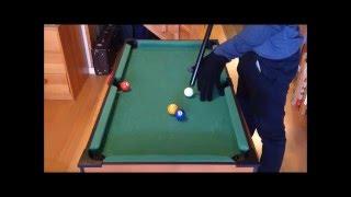 mini pool trick shot