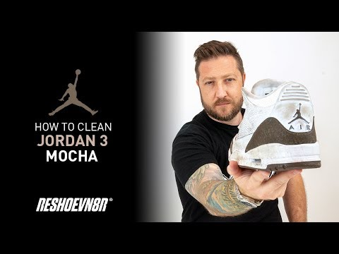 How To Clean Air Jordan 3 Mocha with Reshoevn8r!
